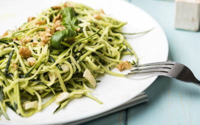 Raw Vegan Pesto Pasta